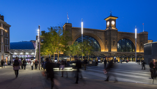 ACO MultiDrain & bespoke drainage at Kings Cross, provide surface water management across large public spaces