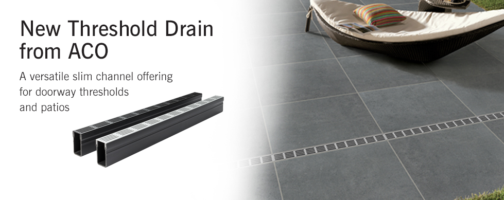 Aco Doorway Drain Threshold Drainage System 1m With 2 Heelguard Stainless Steel