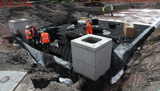 ACO StormBrixx at Telford Academy addresses attenuation site requirements, access and maintenance