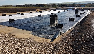 ACO StormBrixx SD provides a shallow attenuation solution in a Scarborough distribution yard