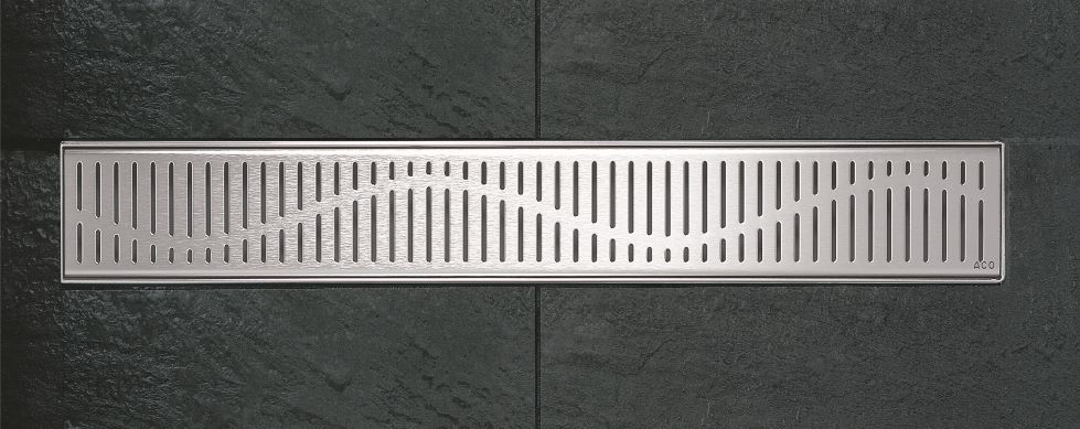 ACO Shower Channel - Wave Grating